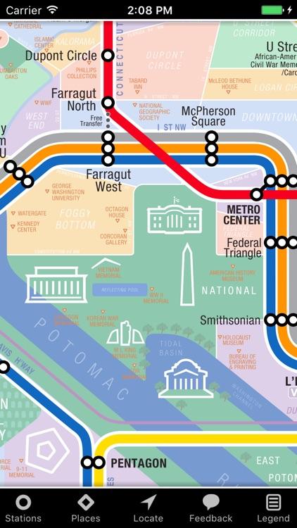 KickMap Washington DC Metro