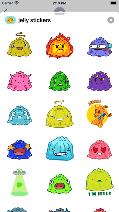 Jelly - Stickers for imessage screenshot 1