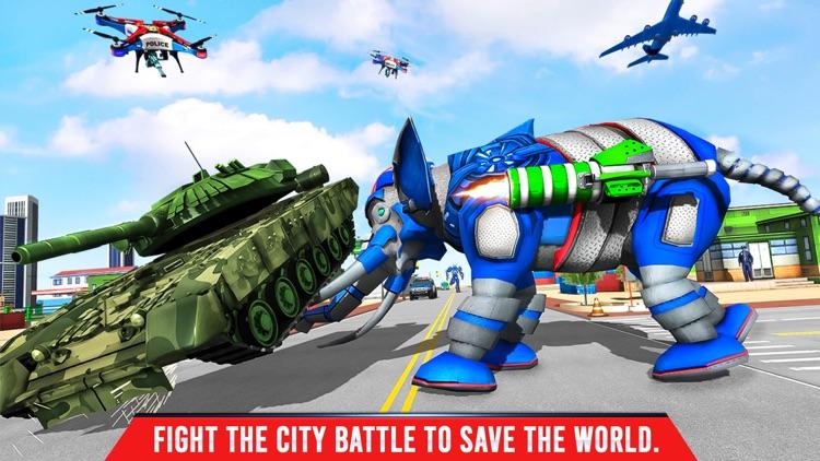 Elephant Robot Transport Game screenshot-5