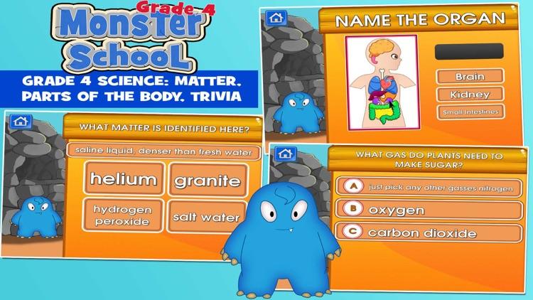 Monsters Grade 4 School Game screenshot-3
