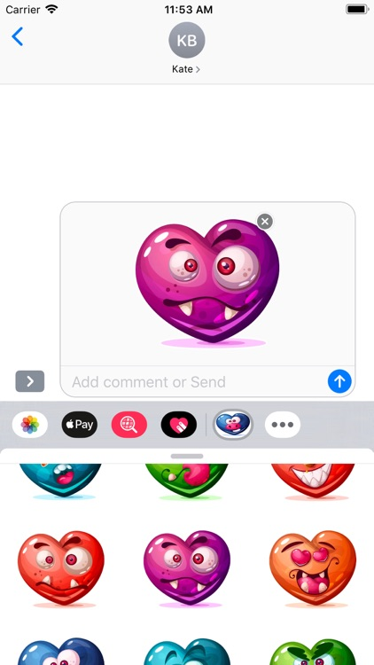Dirty Hearts Stickers Pack screenshot-7