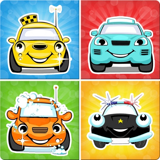 Matching family game: Cars