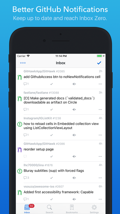 Скриншот №1 к GitHawk for GitHub