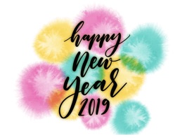 All new style of Watercolor New Year Greetings Stickers
