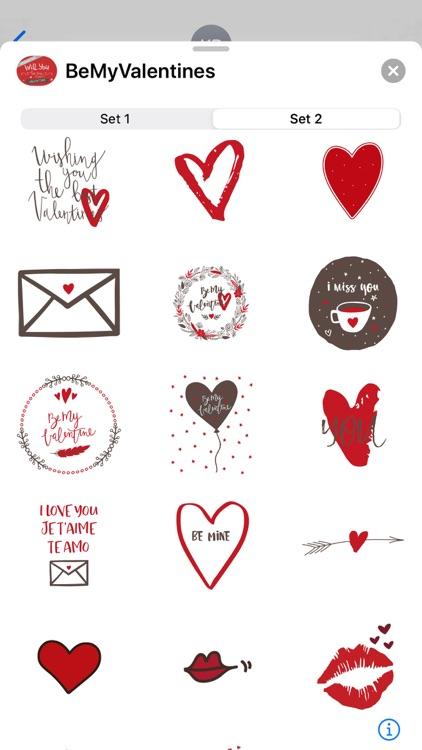Be My Valentine Sticker Sets screenshot-3