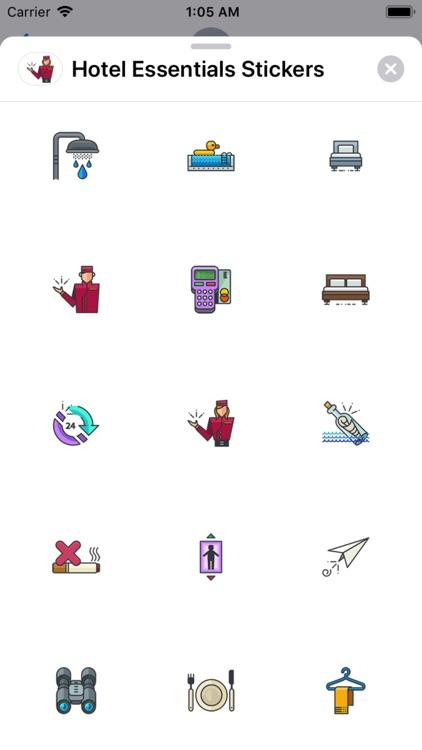 Hotel Essentials Stickers