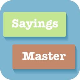 English Sayings Builder Master