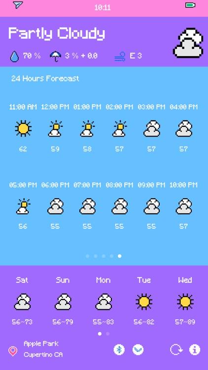 Pixel Weather - Forecast screenshot-7