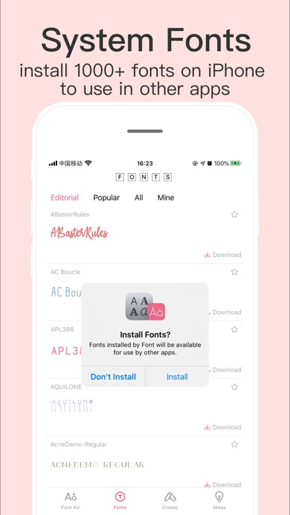 Fonts for iPhones screenshot-3