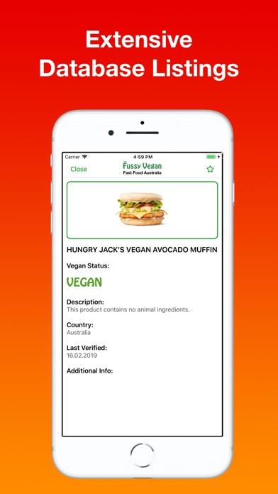 Screenshot for Fussy Vegan Fast Food AU in Japan App Store
