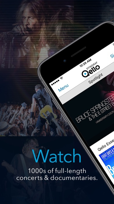 Stingray Qello: Watch Concerts Screenshot