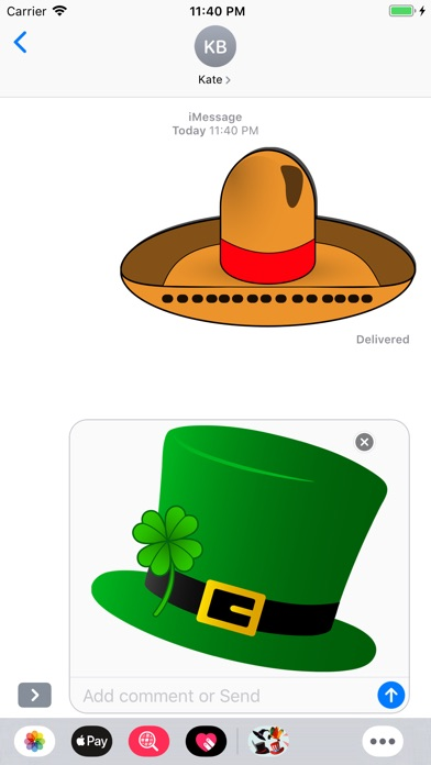 Screenshot for Hats Emoji Stickers in Korea App Store