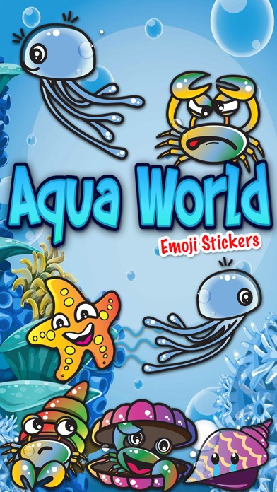 Screenshot for Aqua World Emoji Stickers in Portugal App Store