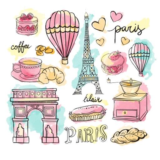 Paris City Stickers