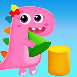 Dino Game 3D Shapes Blocks