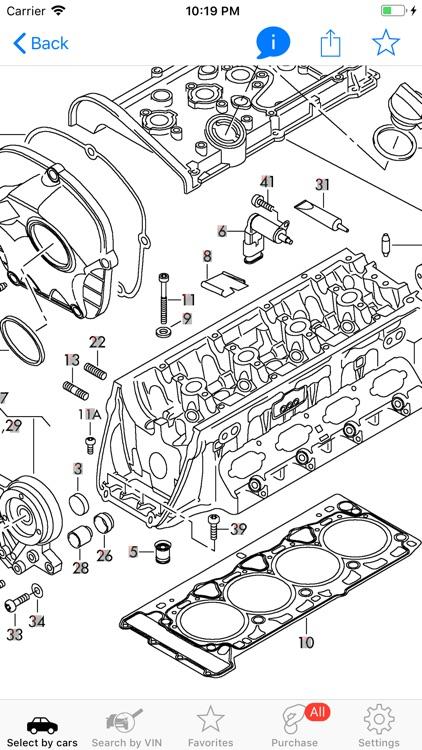 Parts and diagrams for Audi screenshot-0