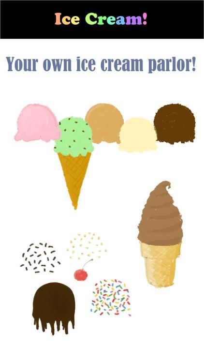 Ice Cream Cone Stickers!