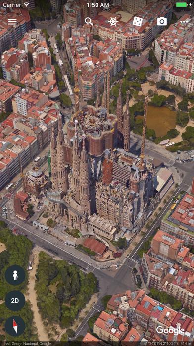 Google Earth iPhone app afbeelding 3
