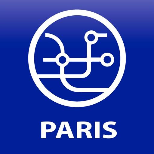 Public transport map Paris