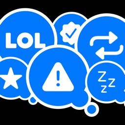 Blue Reactions Stickers