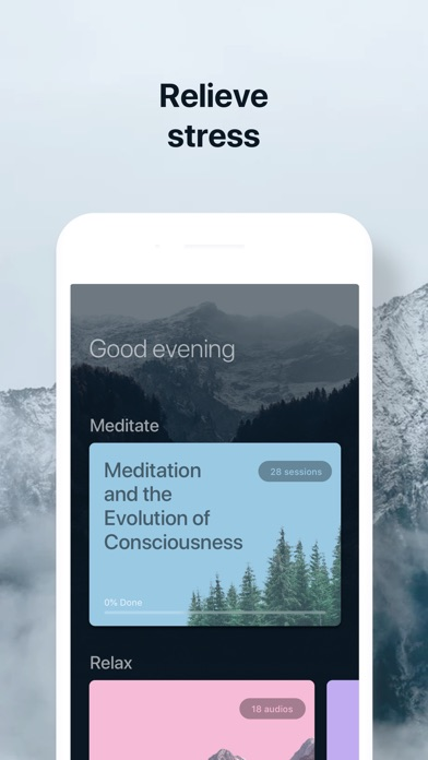 De-Stress: Breath & Meditation Screenshot on iOS