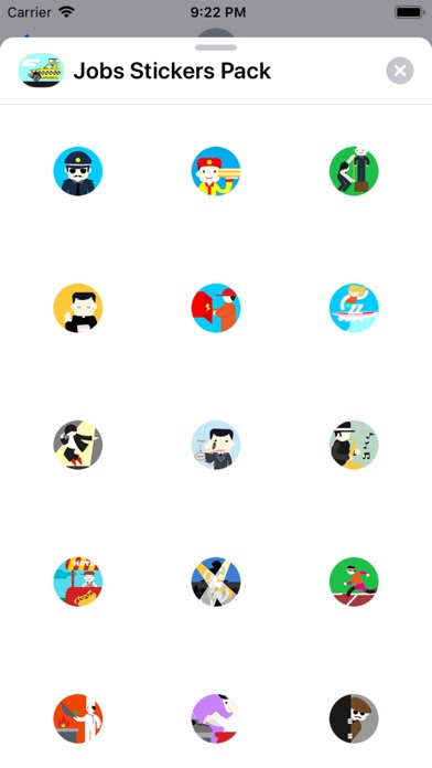 Screenshot for Jobs Stickers Pack in Portugal App Store