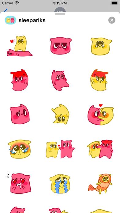 Pillow stickers for iMessage screenshot 1