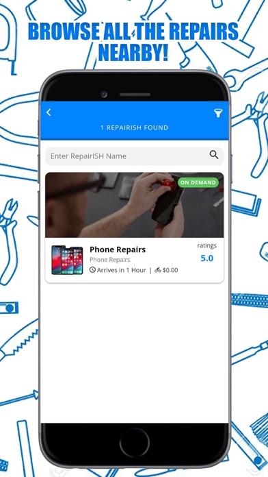 Screenshot of REPAIRish App