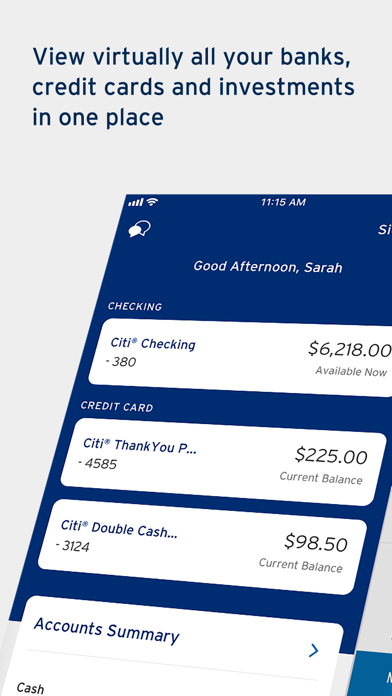 Screenshot for Citi Mobile® in United States App Store