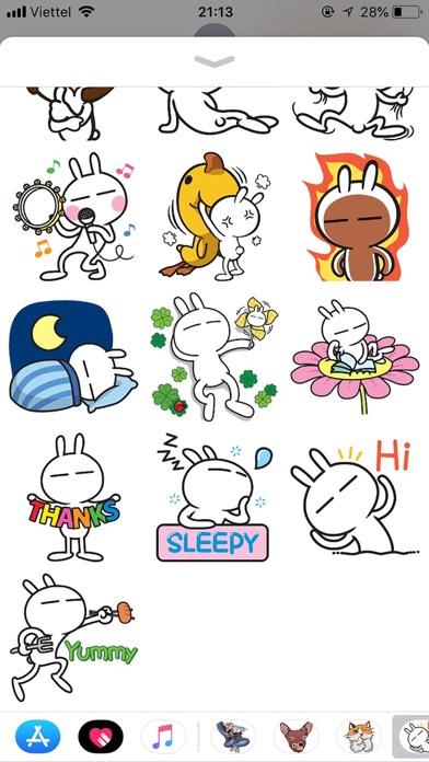 Rabbit Funny Emoji Stickers screenshot 3