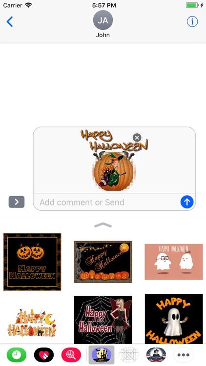 Halloween GIF Stickers 2017 screenshot-3
