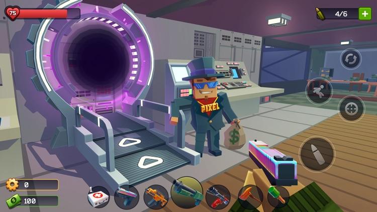 Pixel Combat: Zombie Games 3-D screenshot-0