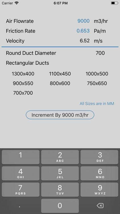 Ductulator Duct Sizing screenshot-3