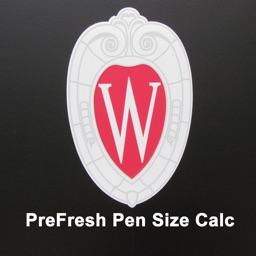 PreFresh Pen Size Calculator