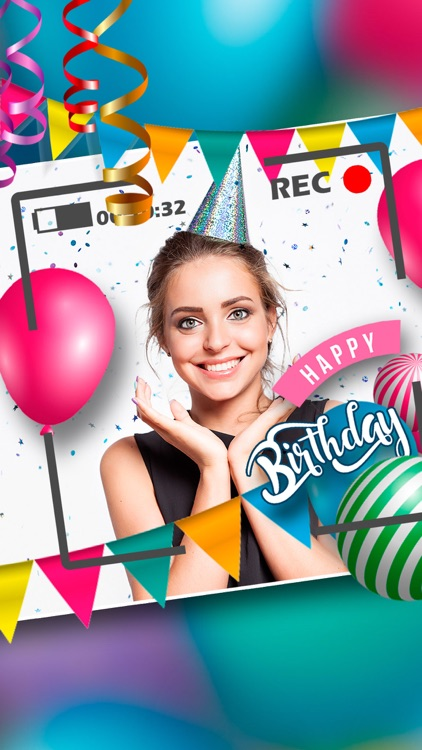 Happy Birthday Video Maker gif by Landay Apps