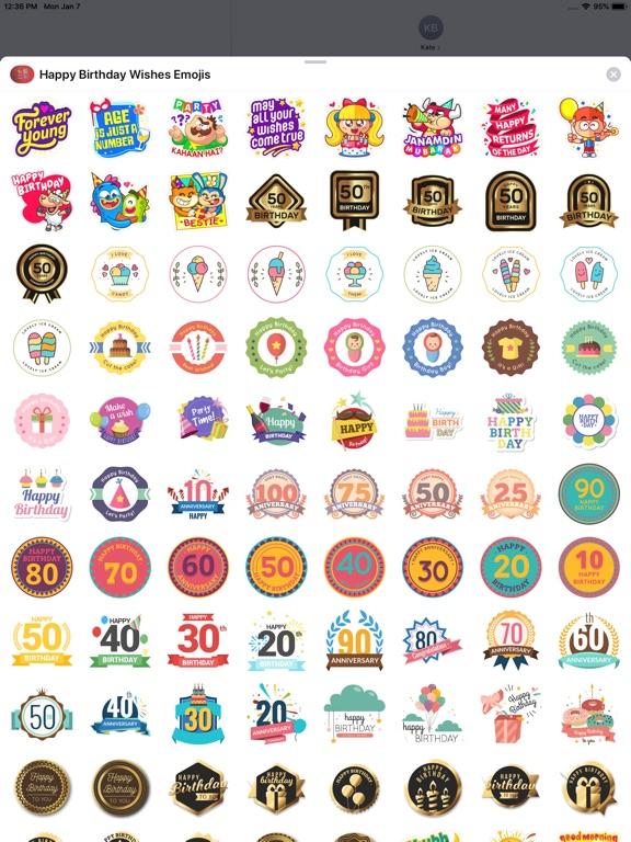 Screenshot 1 For Happy Birthday Wishes Emojis