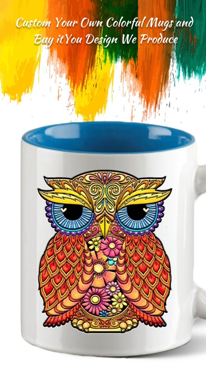 Coloring Owl:Paint Color Cases