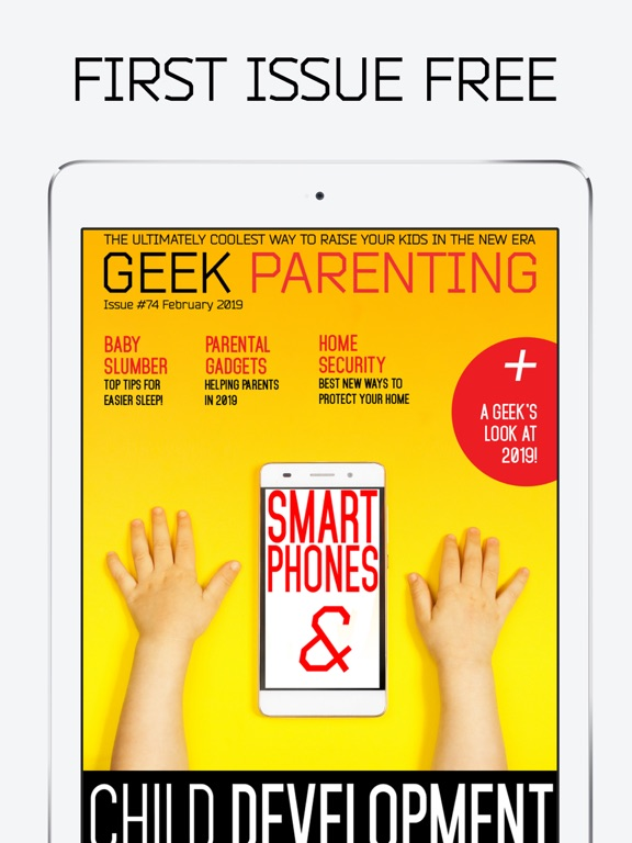 Screenshot #1 for Geek Parenting Magazine-Wired Kids For The Future