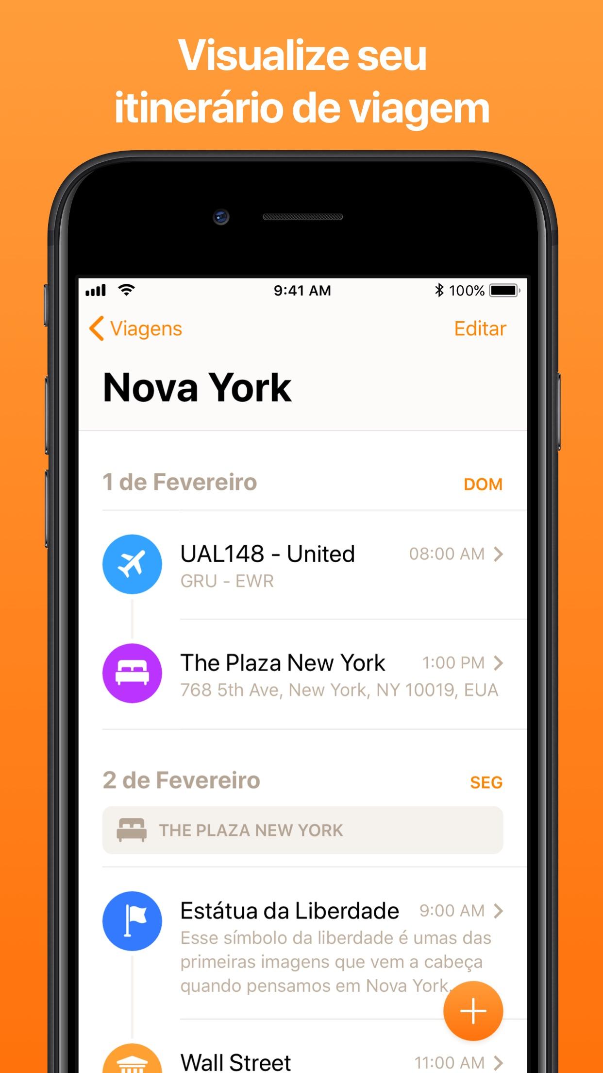 Screenshot do app Tripsy: Planejamento de Viagem