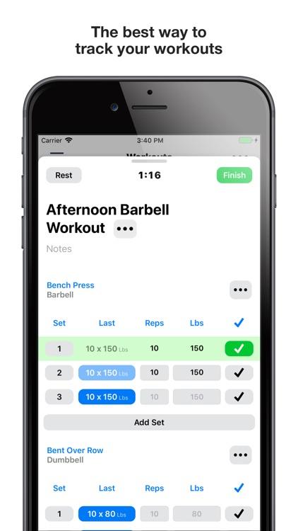 Gym Logger: Track Workouts screenshot-0