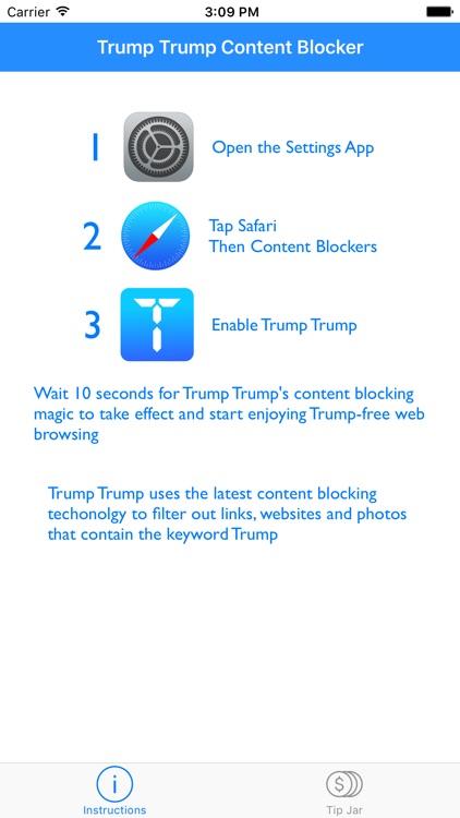 Trump Trump - Block Trump content screenshot-4