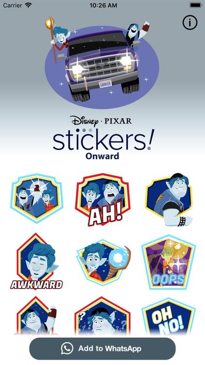 Pixar Stickers: Onward