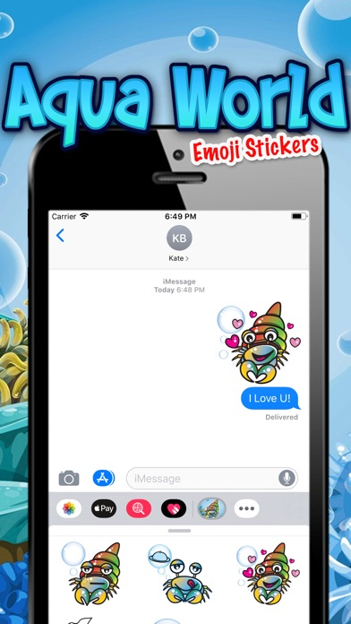 Screenshot for Aqua World Emoji Stickers in Sri Lanka App Store