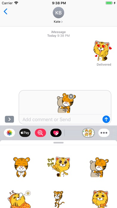Little Tiger Stickers app image