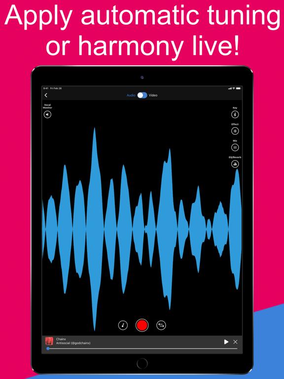Voloco: Auto Voice Tune Harmonizer and Karaoke screenshot