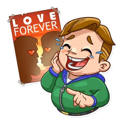 Valentine Day Fool Stickers