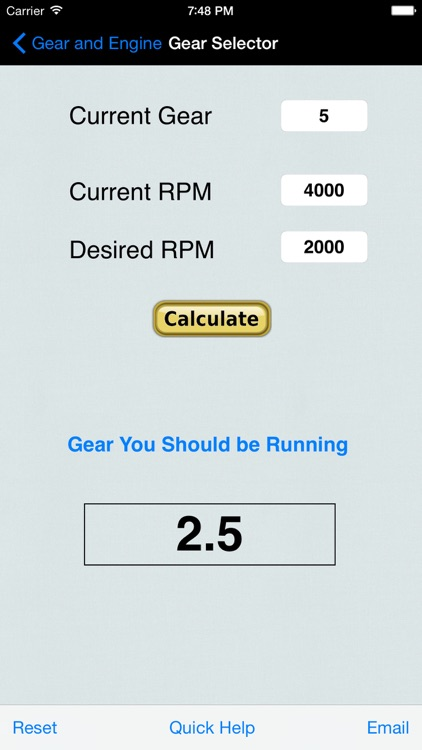 Gear & Engine Calculator