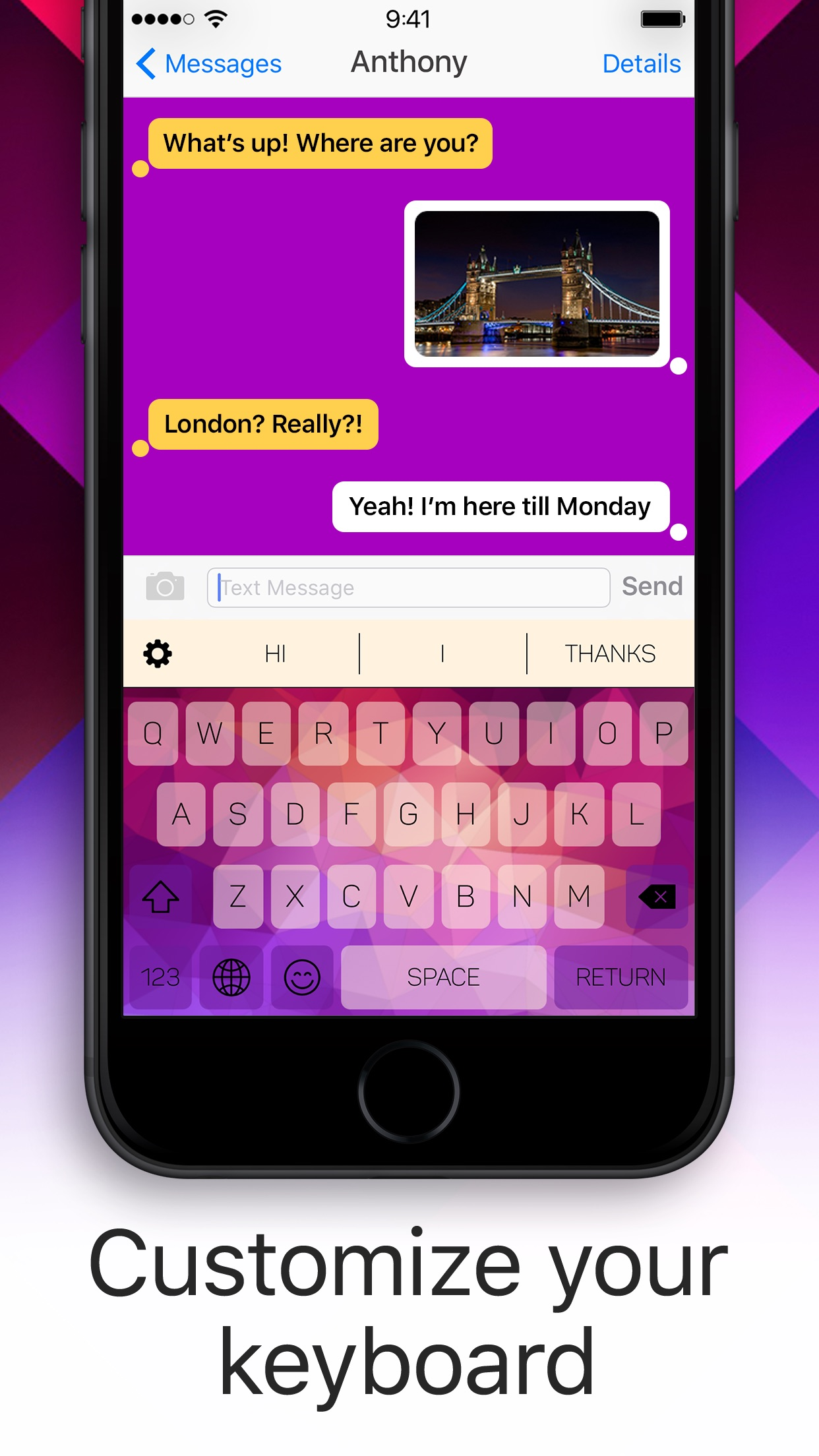 Colour Keyboard Themes & Emoji Screenshot