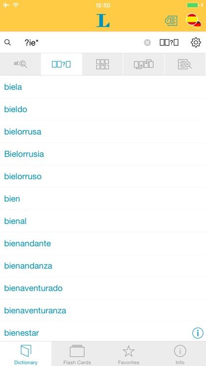 Big German Spanish Dictionary screenshot-3