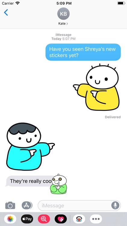Shreyadoodles Stickers